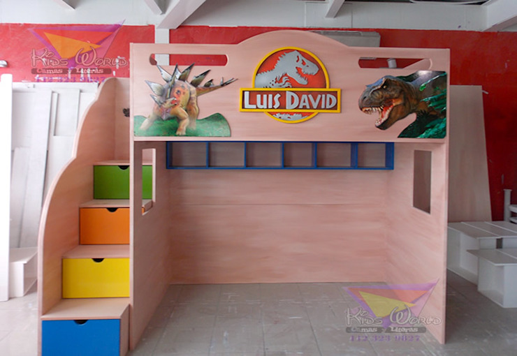 Kids Wolrd- Recamaras Literas y Muebles para niños Nursery/kid's roomBeds & cribs Kayu Buatan Multicolored