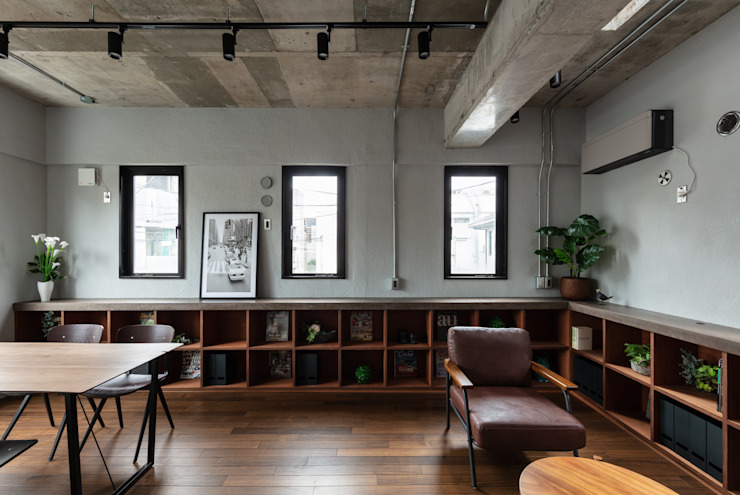 アトリエ SQOOL一級建築士事務所 インダストリアルデザインの 書斎