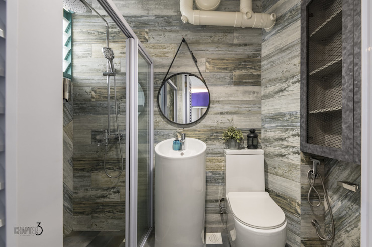 Chapter 3 Interior Design Industrial style bathroom