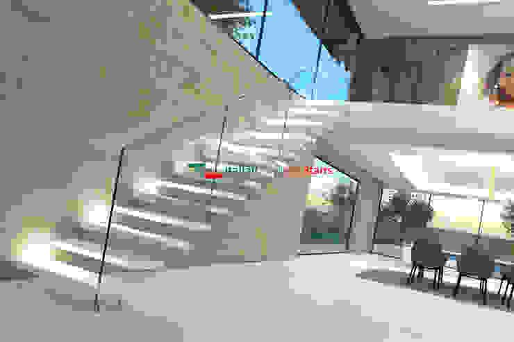 Scala a Sbalzo - Mod.Sbalzo G-B-E-Glass Italian Fashion Stairs Scale