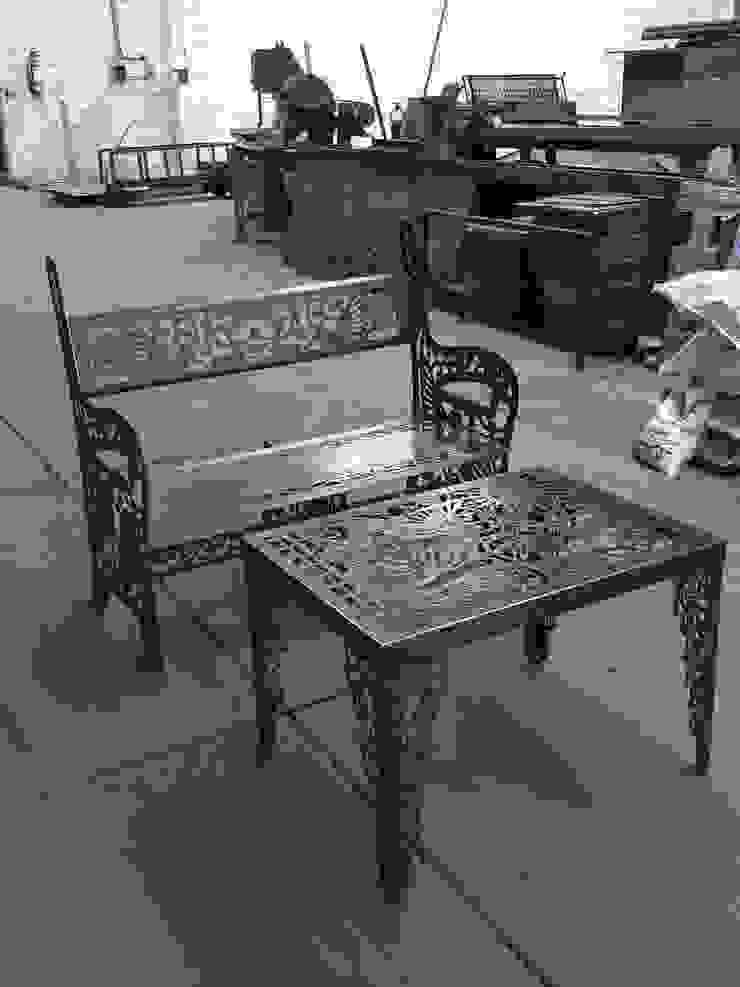 HERRAJES ECATEPEC DE ORIENTE, S.A. DE C.V. Garden Furniture Metal White