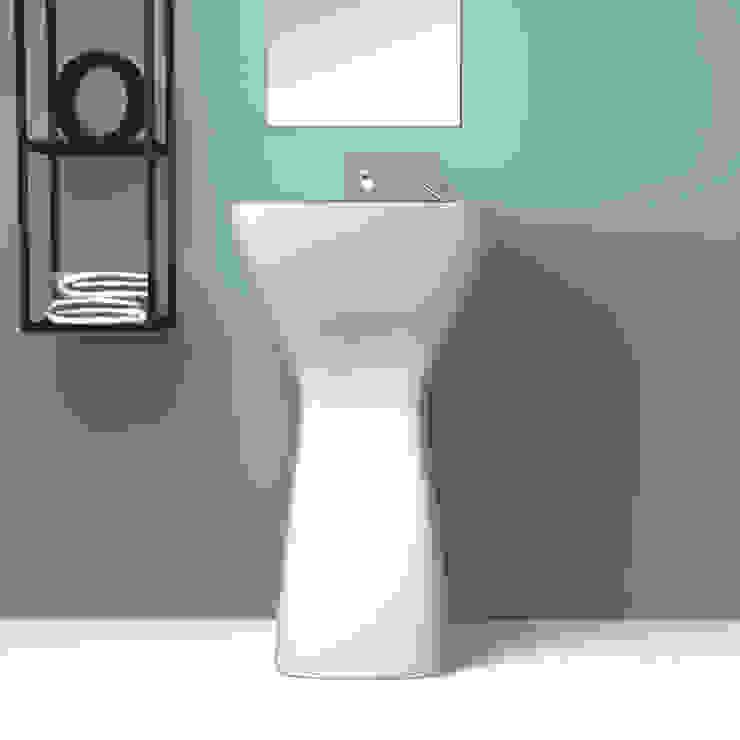 eto' Minimalist style bathroom Ceramic White
