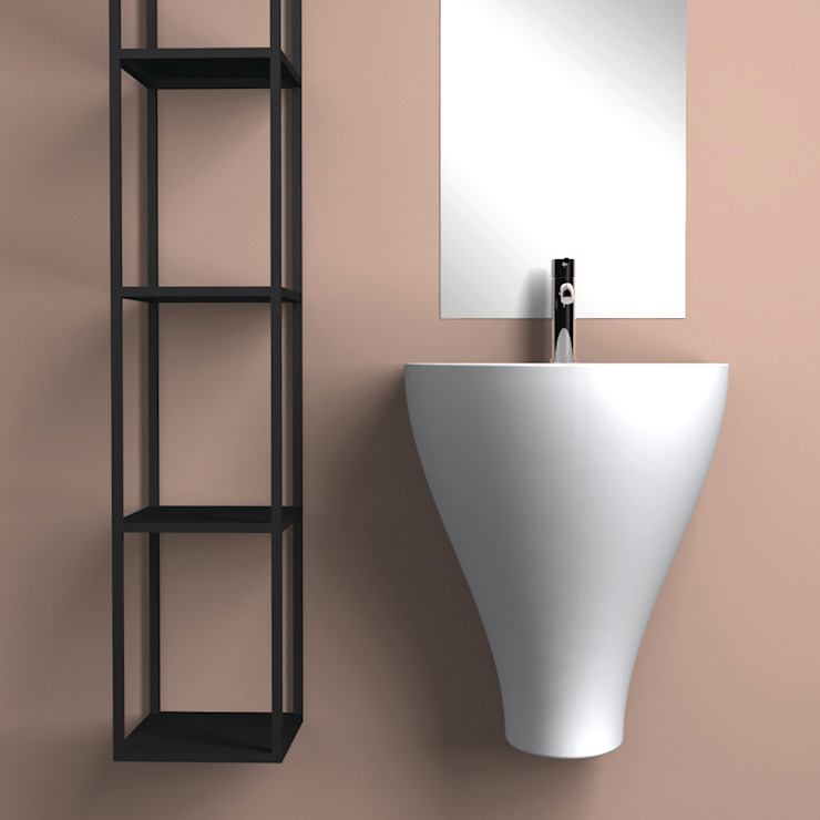 GER bianco eto' Bagno moderno Ceramica Bianco