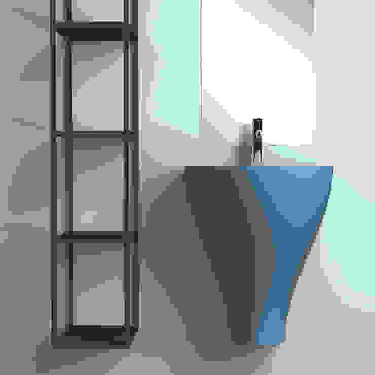 GER azzurro eto' Bagno moderno Ceramica Blu