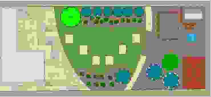 Garden Bird's Eye view The Rooted Concept Garden Designs by Deborah Biasoli Mediterranean style garden