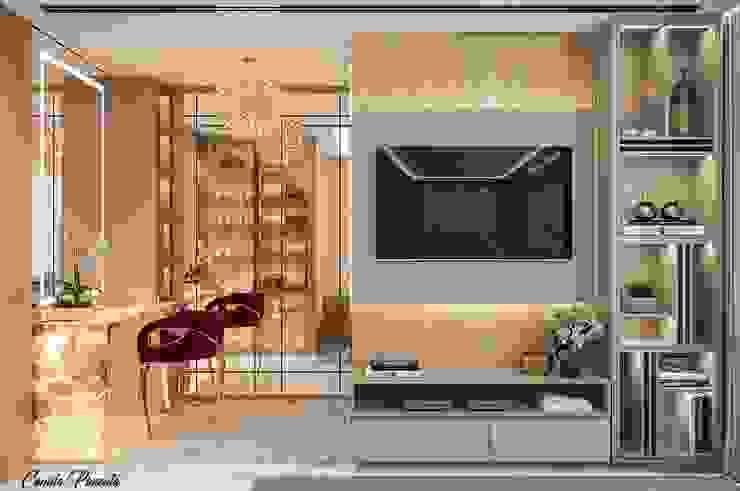 Suíte Master Quartos modernos por Camila Pimenta | Arquitetura + Interiores Moderno Madeira Efeito de madeira