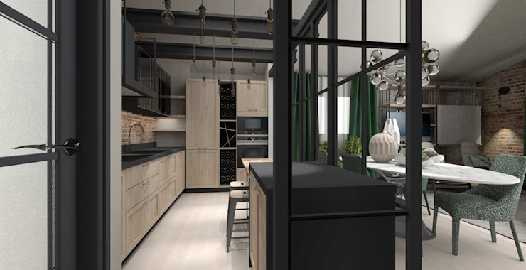 Industrial style kitchen by #HOME Industrial