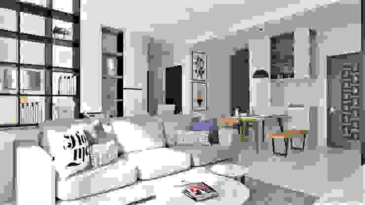 品凡室內設計 Salones de estilo moderno Blanco