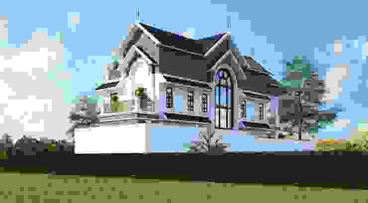 Công ty Kiến trúc Á Âu Maisons asiatiques Béton Blanc
