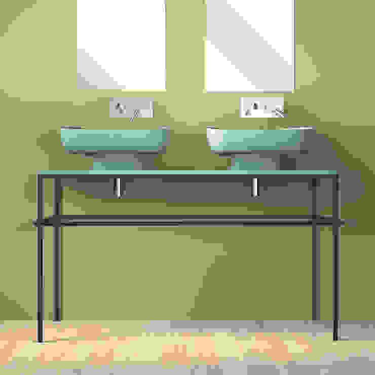 EXPO 120 verde acqua : doppio lavabo tra classico e moderno eto' Bagno moderno Ceramica Verde