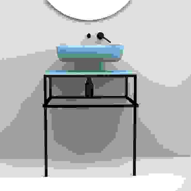 eto' Minimalist style bathroom Ceramic Turquoise