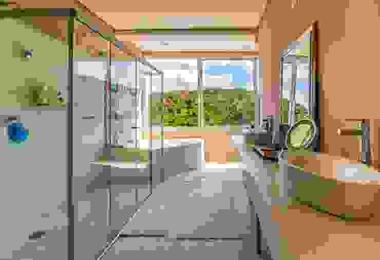 Banheiro AVMS Arquitetura Banheiros mediterrâneos