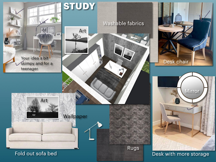 CS DESIGN Modern Study Room and Home Office