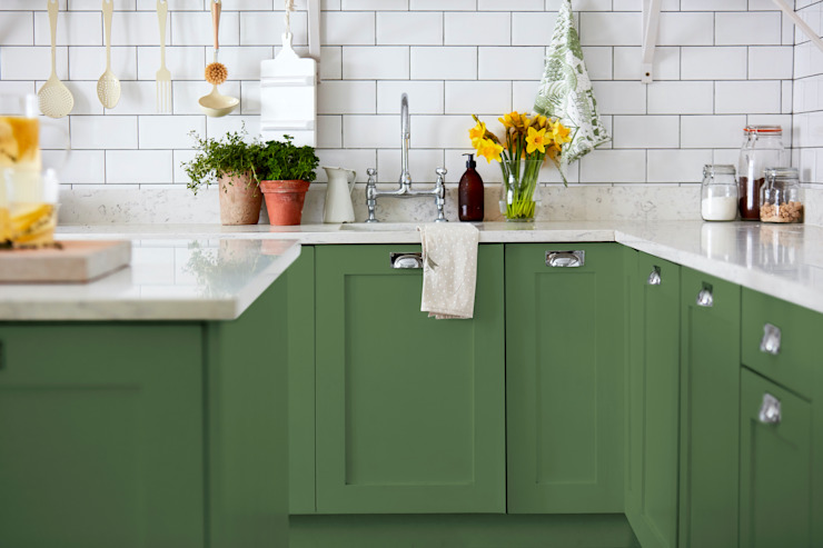 Devon Green Kitchen for Sanderson Paint Alice Margiotta 廚房 Green