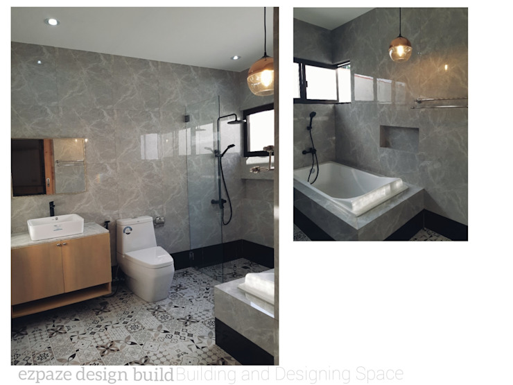STA.MARIA RESIDENTIAL RESORT ezpaze design+build Minimalist style bathroom