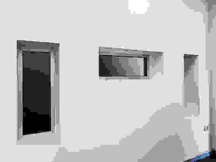 NUOVI UFFICI E CAPANNONE INDUSTRIALE Spazi commerciali moderni di antonio felicetti architettura & interior design Moderno Cemento