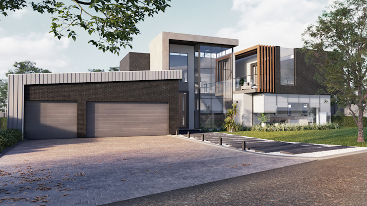 Entrance TOP CENTRE PROPERTIES GROUP (PTY) LTD Modern houses