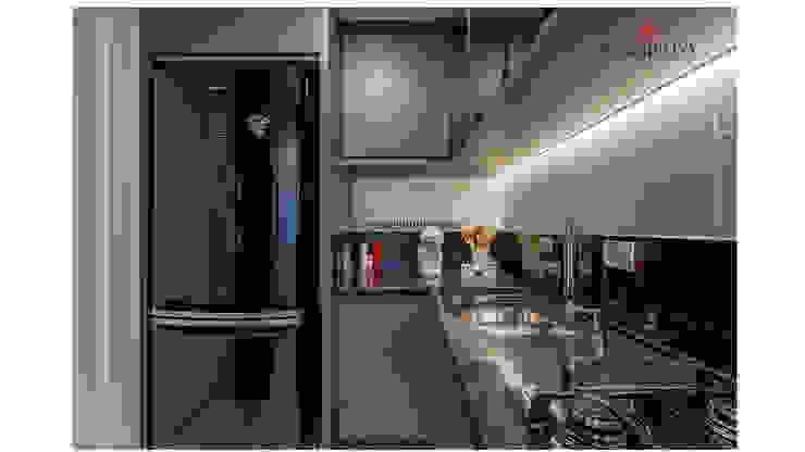 Sgabello Interiores KitchenCabinets & shelves MDF Grey