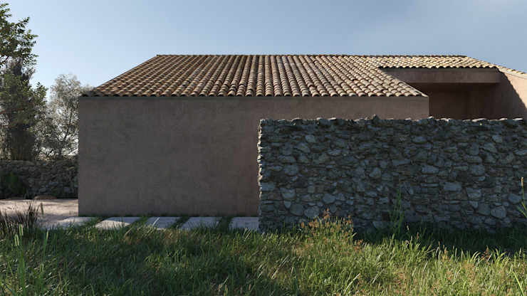 Casa PT - l'ingresso dal vicolo sterrato locatelli pepato Casa unifamiliare Pietra Beige