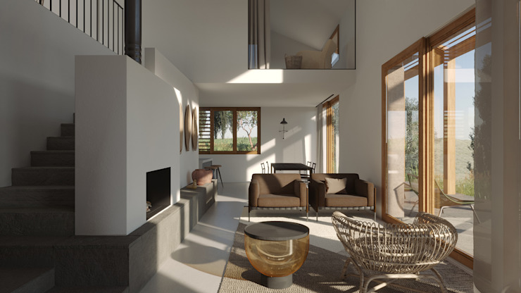 locatelli pepato Modern living room Concrete White