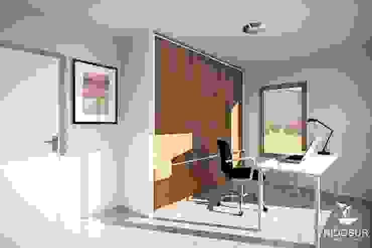 Casa Bonnefont NidoSur Arquitectos - Valdivia Oficinas y bibliotecas de estilo moderno