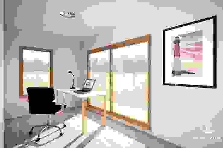 Casa Bonnefont Oficinas y bibliotecas de estilo moderno de NidoSur Arquitectos - Valdivia Moderno