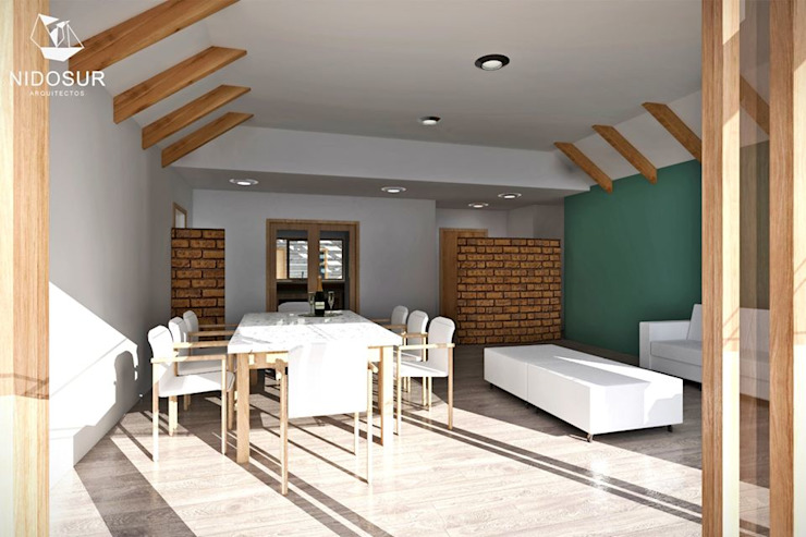 Casa Bonnefont Livings de estilo moderno de NidoSur Arquitectos - Valdivia Moderno