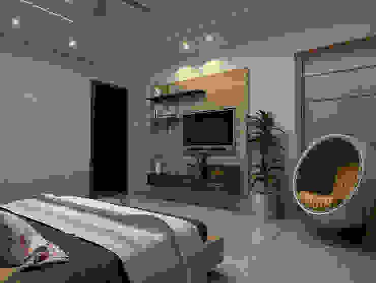 House Interiors in Jalandhar,Punjab Modern style bedroom by Design & Creations Modern