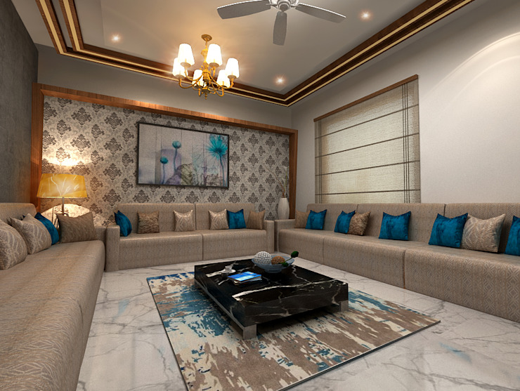 House Interiors in Jalandhar,Punjab Modern living room by Design & Creations Modern
