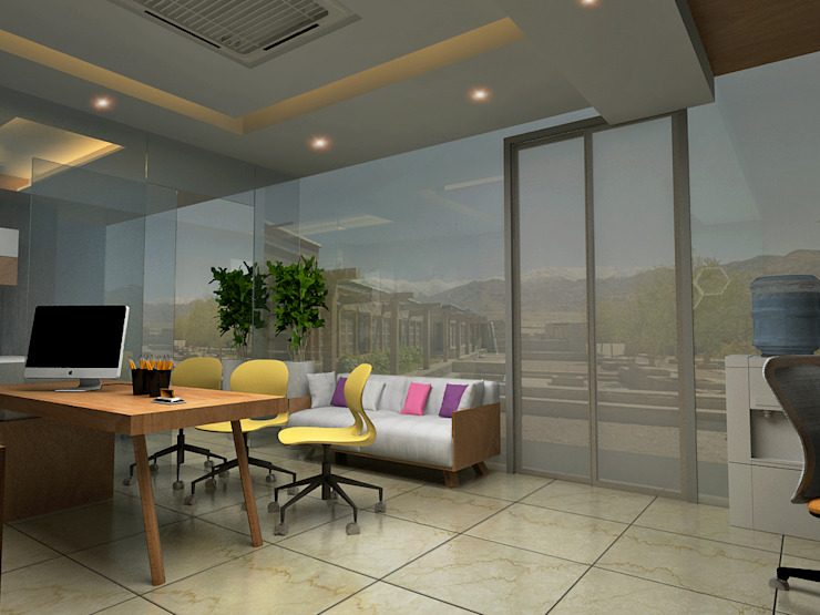 Interior Spaces Asian style office buildings by Design & Creations Asian