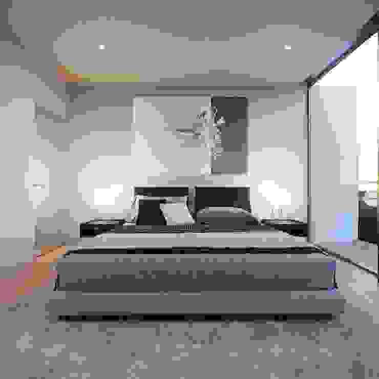 Recámara Piixan Arquitectos Dormitorios modernos