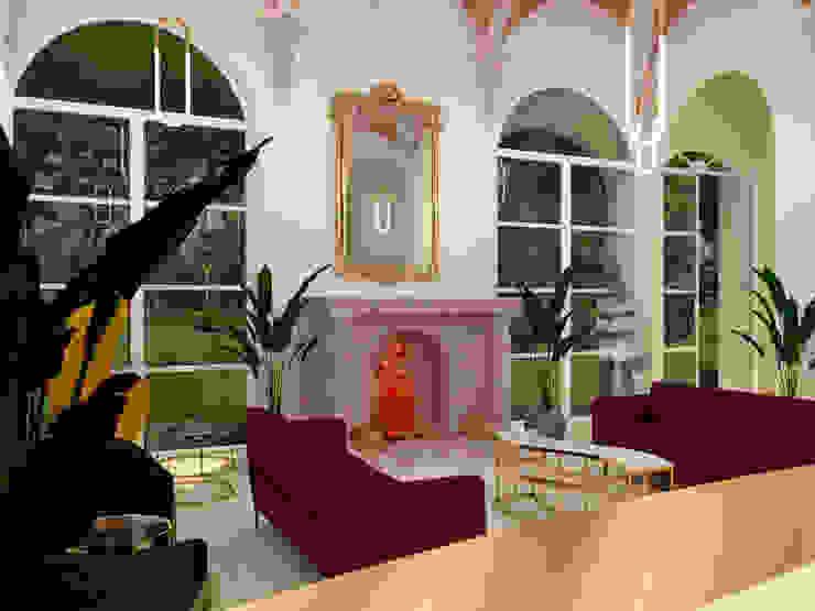 Lobby de Hotel Guanajuato Alejandro Zavala Hoteles de estilo ecléctico