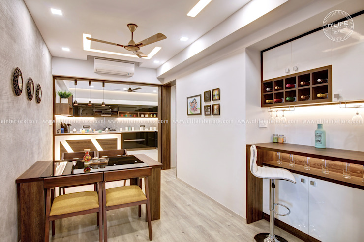 Customized Dining Space by DLIFE Home Interiors DLIFE Home Interiors Modern dining room