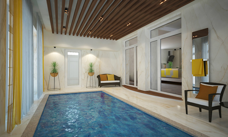 ISDesign group s.r.o. Eclectic style pool Ceramic White
