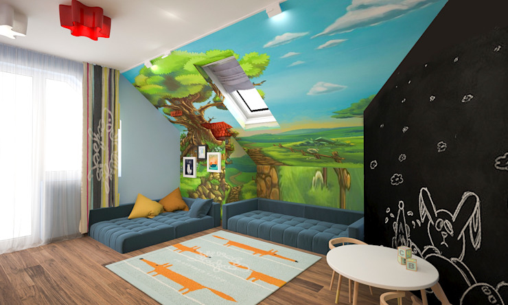ISDesign group s.r.o. Eclectic style nursery/kids room Multicolored