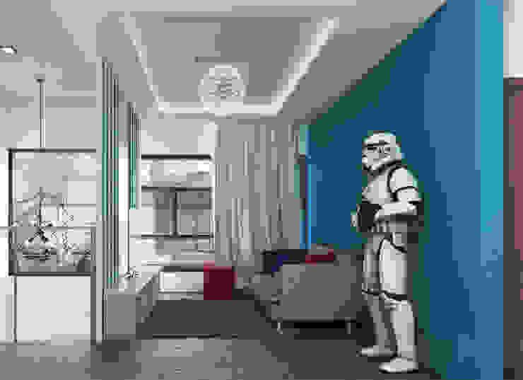 Living area 3D Architecture