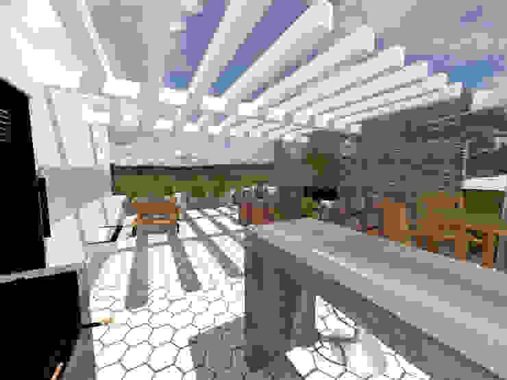Terraza Balcones y terrazas modernos de Arqternativa Moderno Cerámico