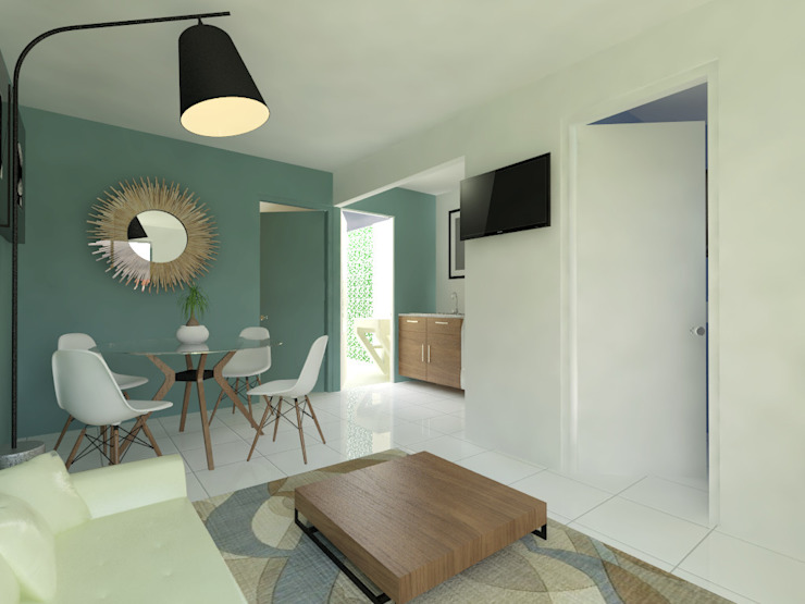 Estancia Salones modernos de Arqternativa Moderno