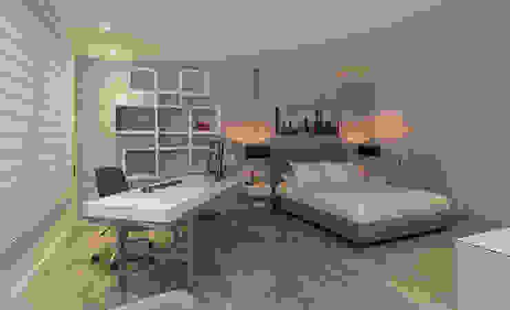 Apartamento AC 134 Casallas+Duque Arquitectos Habitaciones modernas