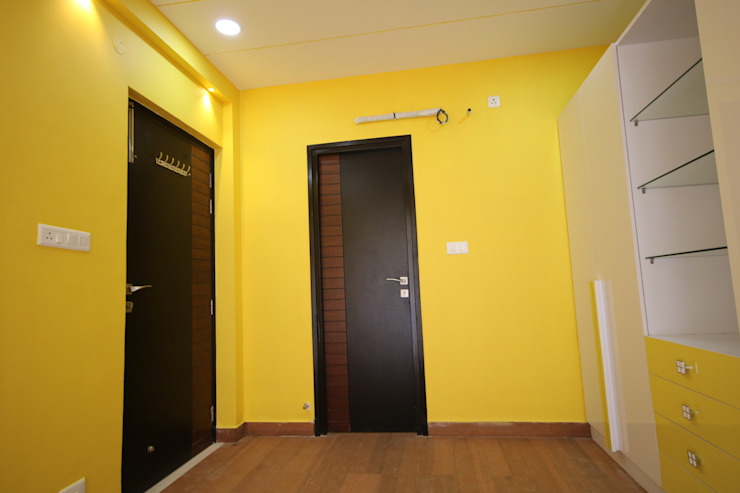 Children Bedroom - yellow color wall Enrich Interiors & Decors Modern style bedroom Yellow