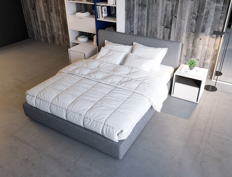MIAc BED ITALIANELEMENTS BedroomBeds & headboards Textile