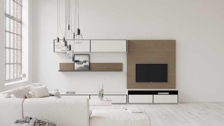 ITALIANELEMENTS Living roomTV stands & cabinets MDF White