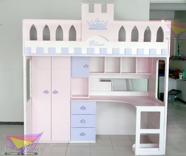Kids Wolrd- Recamaras Literas y Muebles para niños Nursery/kid's roomBeds & cribs Kayu Buatan Red