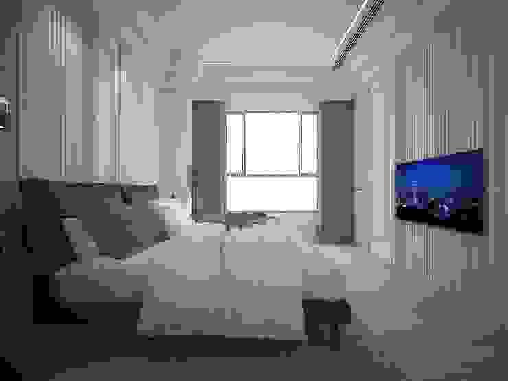 主臥房 群築室內裝修設計有限公司 臥室 White