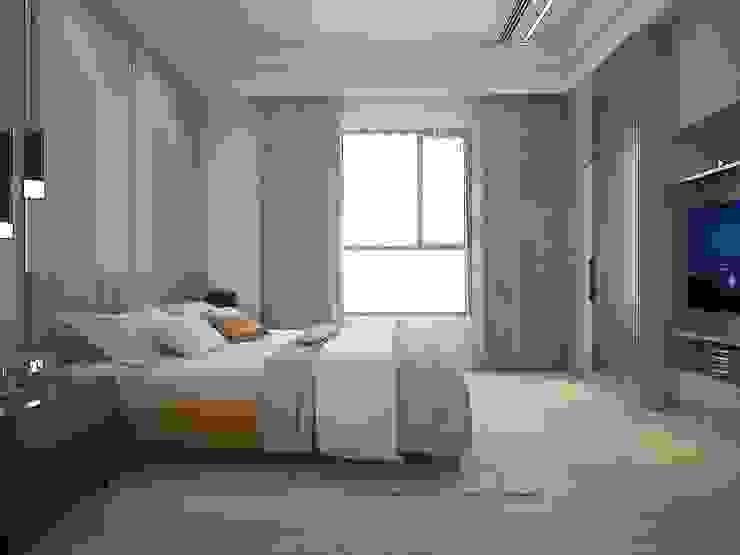 父母房 群築室內裝修設計有限公司 臥室 White