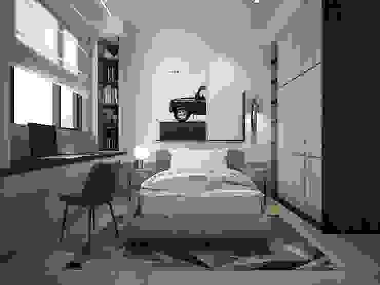 小孩房 群築室內裝修設計有限公司 臥室 White
