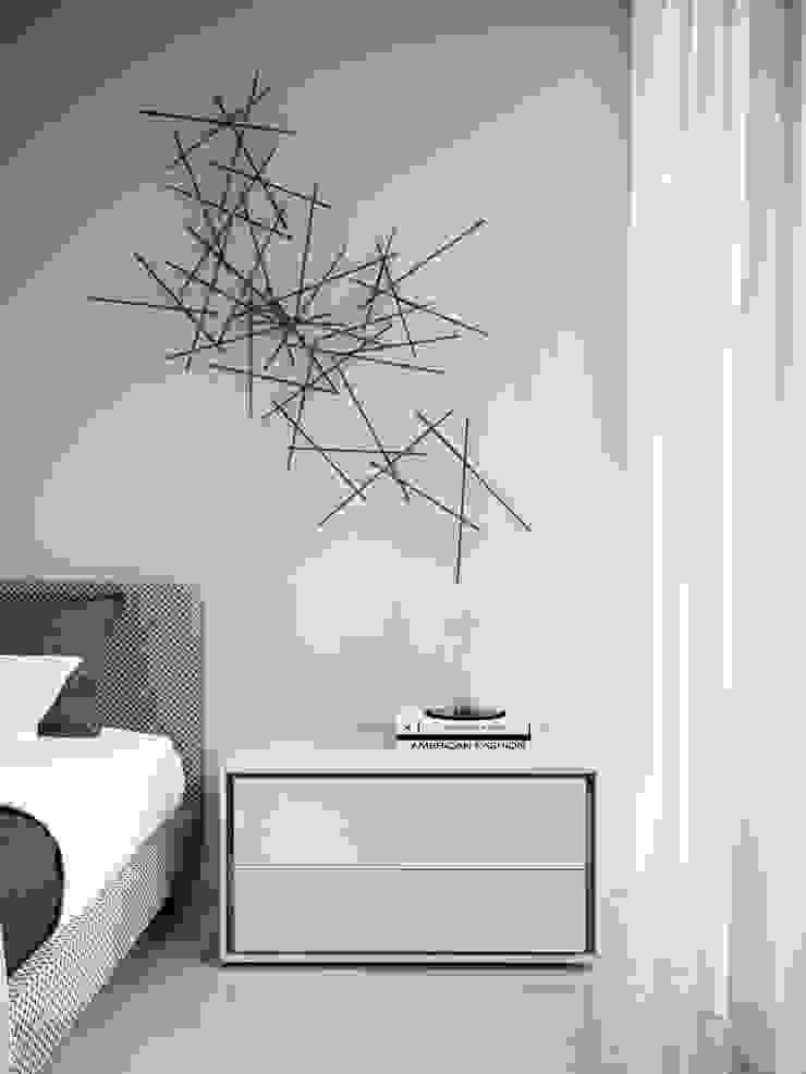ITALIANELEMENTS DormitoriosMesitas de noche Tablero DM Blanco