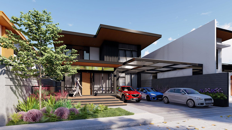 Updating the Look of a 2-Storey Makati Abode Structura Architects Modern home Concrete Black
