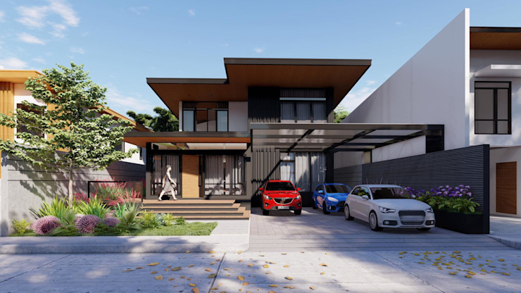 Facade Structura Architects Modern home Concrete Black