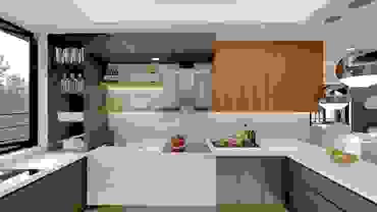 Kitchen Structura Architects Built-in kitchens MDF White